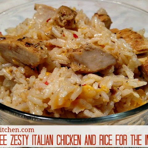 Gluten-free Zesty Italian Chicken And Rice #Recipe For The Instant Pot