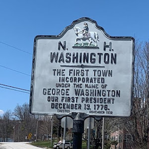 N. H. WASHINGTON THE FIRST TOWN INCORPORATED UNDER THE NAME OF GEORGE WASHINGTON OUR FIRST PRESIDENT DECEMBER 13, 1776. ERECTED NOVEMBER 1932