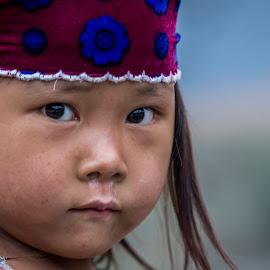 Street urchin by Alison Grünewald - Babies & Children Child Portraits ( girl child, child, girl, poor, runny, vietnam, nose, portrait )
