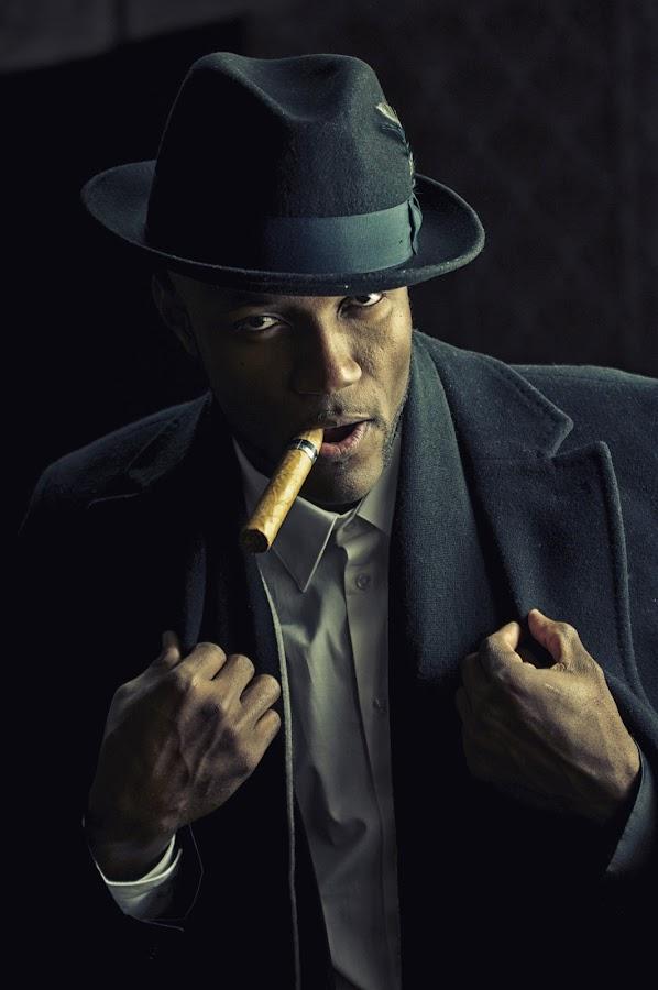 by Stevenson Martin - People Portraits of Men ( cigar, hat )