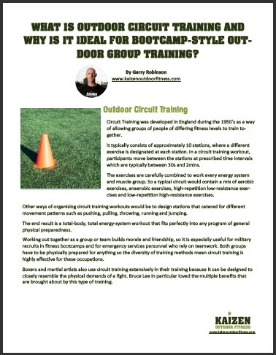 For More Circuit Training Ideas And Workouts Go To The Kaizen Outdoor Fitness A Bootcamp E Manual