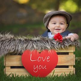 Be my Valentine by Lucia STA - Babies & Children Child Portraits