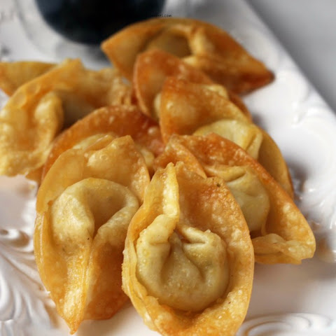 New Year's Party Ideas-Cream Cheese Wontons