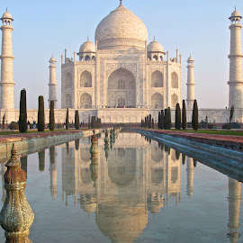 Taj Mahal by Mike Mulligan - Buildings & Architecture Statues & Monuments ( taj, iphoto original, architectural, india, travel )