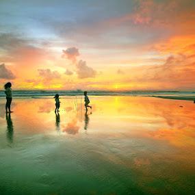 Sunset Plays by Alit  Apriyana - Landscapes Sunsets & Sunrises