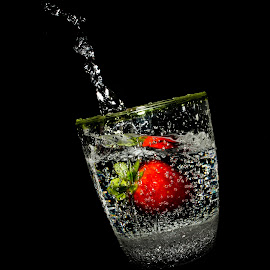 Splash by Garces & Garces - Food & Drink Fruits & Vegetables ( water, splashing, splash, splash photography, drink, strawberry )