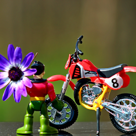 by Dipali S - Artistic Objects Toys ( bike, toy, motor, motorcycle, moped, flowers )