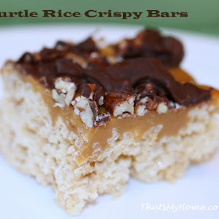 Turtle Rice Krispy Bars