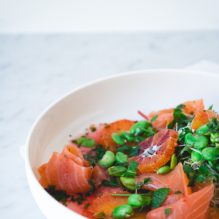 Smoked Salmon and Blood Orange Salad w/ Fava Beans & Blood Orange ...