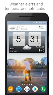 Sense Flip Clock & Weather (Ad-free) Screenshot