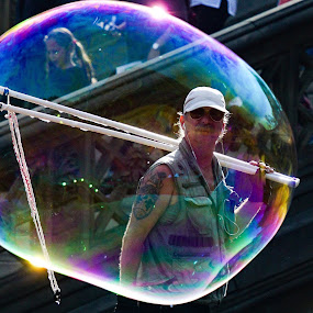 Bubble by VAM Photography - People Street & Candids ( abstract, bubble, nyc, culture, man )