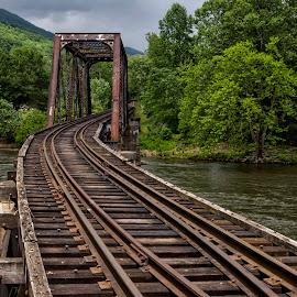 BC-2016 P1018552 by Ross Boyd - Transportation Railway Tracks ( mountains, nc, railroad, rustic, river )
