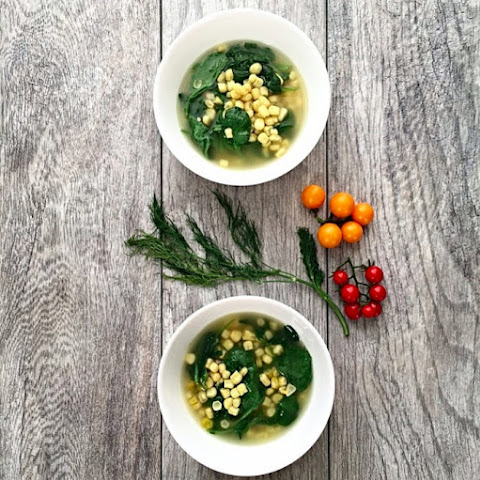 Spinach Corn Soup