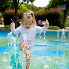 Kickin it up at the Splash Pad ... by Kellie Jones - Babies & Children Children Candids (  )