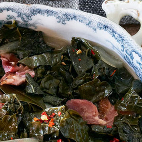 Slow-Simmered Kale with Ham