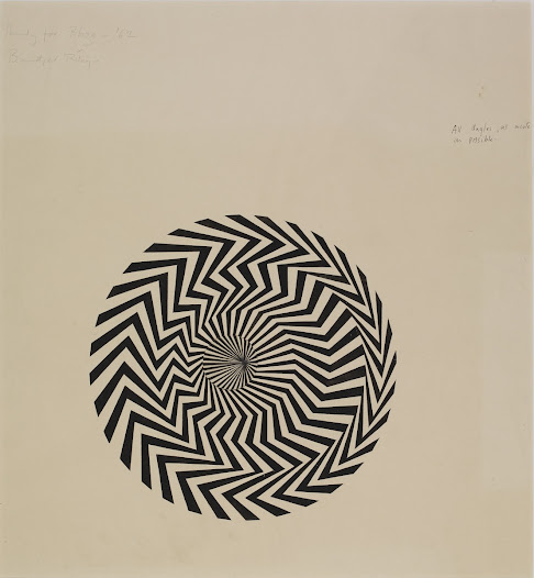 This fascinating working drawing by the British artist <b>Bridget Riley</b> offers us insight into her decision-making process.