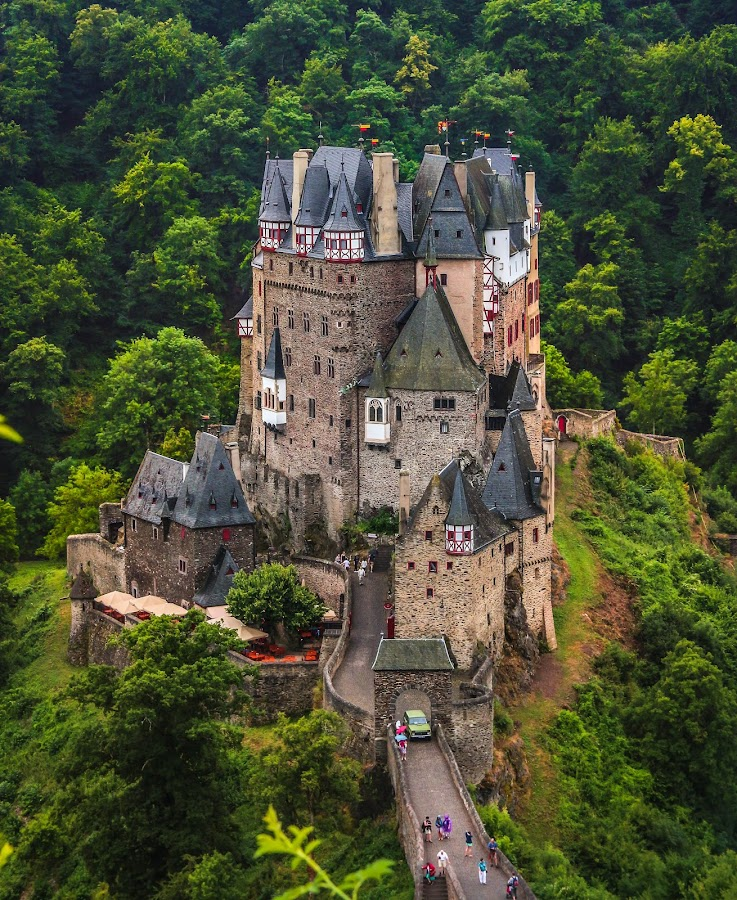 German Castle by Emmett Sparling - City,  Street & Park  Historic Districts ( cool, old, green, castle, mediaeval )