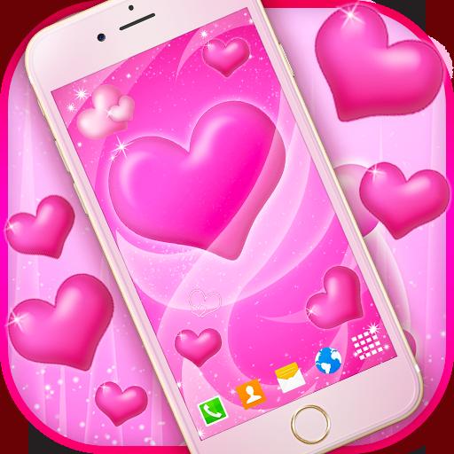 Pink Hearts Live Wallpaper (app)