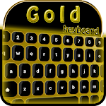 Gold Keyboard Theme 2.0 Apk
