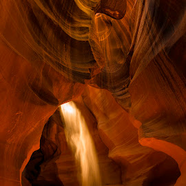 The Beam of Light by Chris Bartell - Landscapes Caves & Formations ( slot canyon, navaho, page, arizona, red rock, beam, rocks, light, antelope canyon,  )