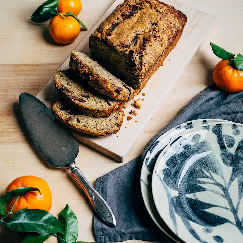 Olive Oil Banana Bread With Chocolate Chips