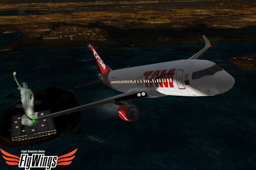 Flight Simulator Night NY HD - screenshot