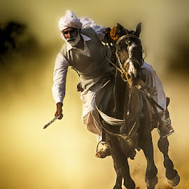 Budha In Action by Abdul Rehman - Sports & Fitness Other Sports ( natural light, beautful, colorful, colors, horse, beauty, mother nature, eyes, colour, horseback, nature, dust, horse rider, natural )