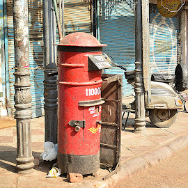 Letter Box by Tanuj Dayal - City,  Street & Park  Street Scenes