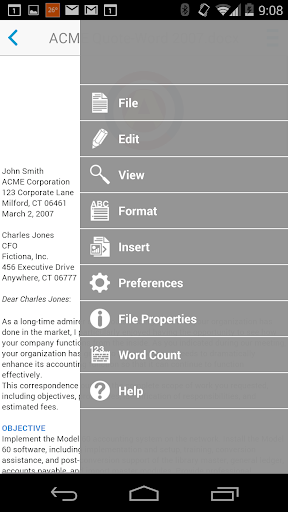 Docs To Go™ Free Office Suite screenshot 3