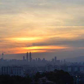 Kuala Lumpur by Hazmi Anas - Novices Only Landscapes ( sunset, malaysia, kl )