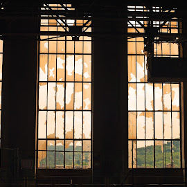 Broken Windows by Marco Bertamé - Buildings & Architecture Other Interior ( hall, industrial, glass, abondoned, windows, decaying, abandoned )