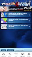 Screenshot of Hurricane Tracker WPBF 25