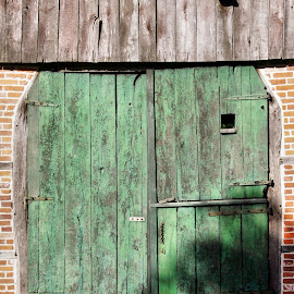 Green barn doors 1 by Anita Berghoef - Buildings & Architecture Architectural Detail ( doors, barn, green, door, architectural, architectural detail, architecture )