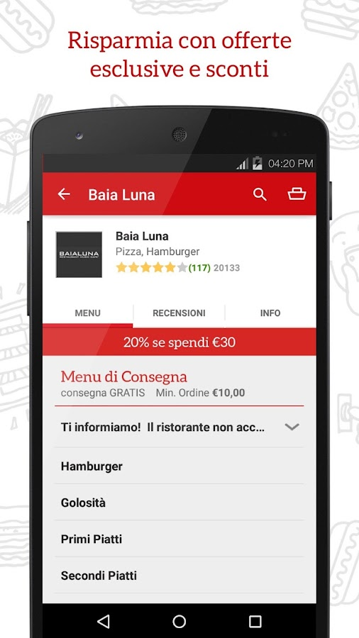 JUST EAT - Pizza a Domicilio Screenshot 2