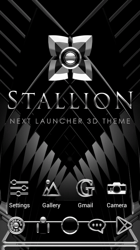 STALLION Next Launcher Theme Screenshot