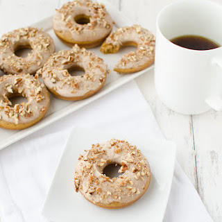 Pumpkin Donuts with Maple-Pecan Frosting