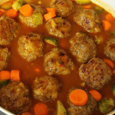 Chicken Sausage Meatball in Moroccan Tagine Sauce