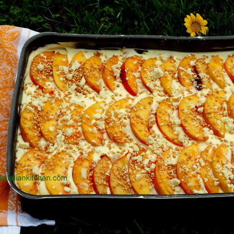 Peach Tiramisu with white chocolate