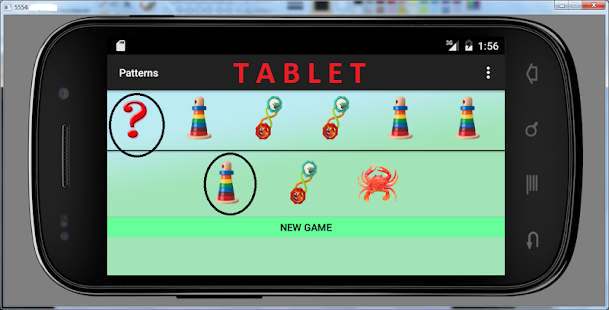 3 year games patterns tablet - screenshot