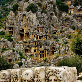 The ancient cemetery by Svetlana Essig - Buildings & Architecture Public & Historical ( ancient, cemetery, ruins, architecture, turky,  )