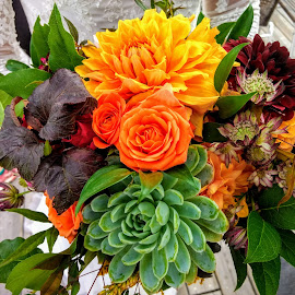 Bride's Bouquet by Patti Connelly - Wedding Other ( wedding, succulents, fall, flowers, bride bouquet )