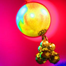 yellow mix by Mukesh Kumar - Abstract Macro
