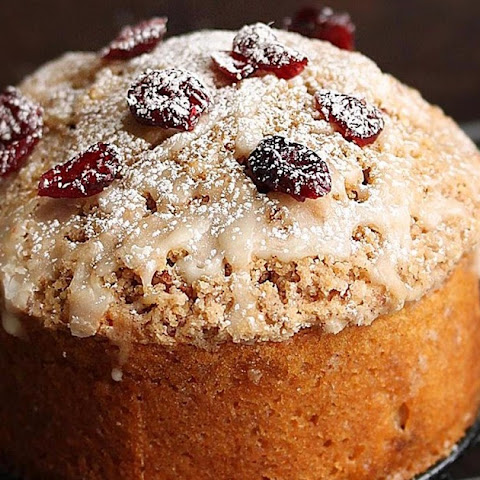Whole wheat Cranberry Coffee Cake | Cranberry Orange yogurt cake