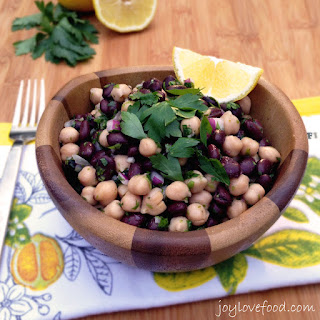 Two Bean Salad with Garlic Lemon Vinaigrette