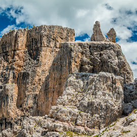 Tower by Mario Horvat - Landscapes Mountains & Hills ( mountains, touristic, sky, dolomiti, cinquetorri, travel, dolomites, landscape, italy, hiking, cinque torri )