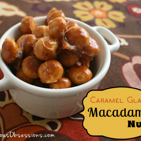 Caramel Glazed Candied Macadamia Nuts