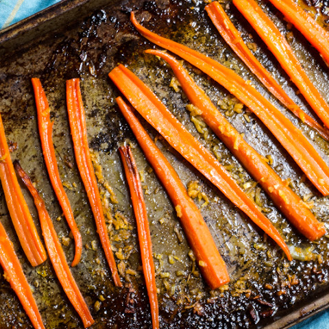 Citrus Roasted Carrots with Ginger
