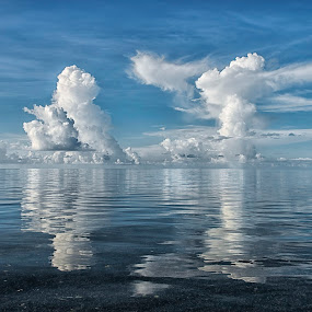 Island Time Reflections by Heather Allen - Landscapes Cloud Formations (  )