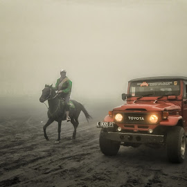 Horse vs Car by Alex Zwan - Transportation Other