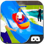 VR Simulator Water Slide 360 Icon